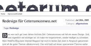 Beispiel für eingebundene Schrift via @font-face - hier OgiremaBold